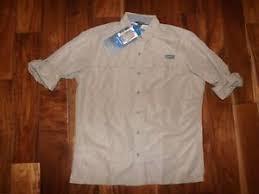 Details About Nwt Mens Eddie Bauer Light Khaki Guide Long Sleeve Button Down Shirt Size L