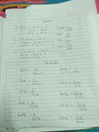 Prepare A Chart Prepare A Chart On Algebraic Identities Brainly In