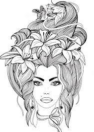 Recolor Coloring Pages Hair 10 Photos Printable Coloring Page