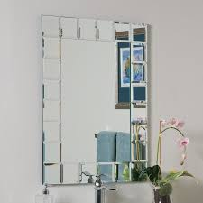 decor wonderland montreal 23 6 in clear rectangular bathroom mirror