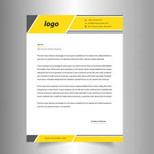 Making A Letter Head Yellow Letter Head Template Vector Premium Download