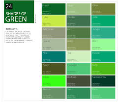 Different Shades Of Green Chart 24 Shades Of Green Color Palette Graf1x Com