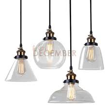 vintage led crystal glass pendant lights led ceiling pendant lamps 4 style industrial edison glass light ac 110 240v glass light pendants seeded glass