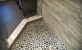 river rock tile flooring images