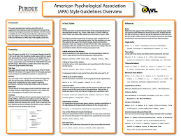 best apa style writing ideas apa style paper  apa style guidelines overview from owl purdue online writing lab owl