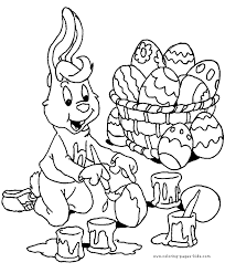 Easter Color Page Coloring Pages For Kids Holiday Seasonal