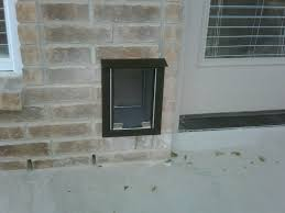 hale pet door brick wall installation bulverde