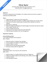Makeup Artist Instructor Resume Sample