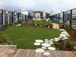 Small Picture spectacular rooftop gardens wooden deck garden path lawn