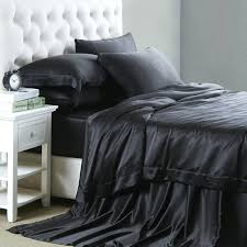 black silk bed sheets white a ivory coffee black black silk bed sheets double
