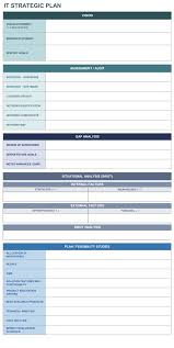 It Strategic Plan Excel Template Strategic Planning