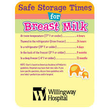 Breastmilk Storage Chart Safe Storage Times For Breast Milk Magnet Personalization Available
