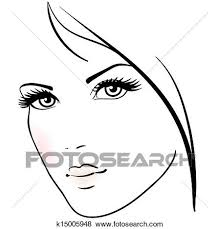 美しい女性 顔 クリップアート