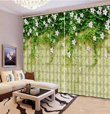 Großhandel Klassisches Hauptdekor Grünes Blatt 3d Vorhang Mode Dekor