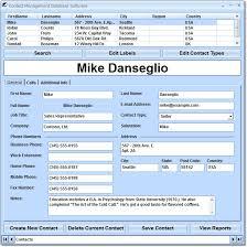 Address Database Software Free Contact Management Database Software 7 0 On Filecart
