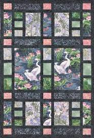 Oriental showcasing larger prints | quilts using panels ... & Shoji Screen Quilt, pattern from Laura Nownes Adamdwight.com