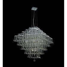 parma square 10 light pendant ceiling light with clear crystal detail