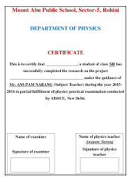 Project Front Page Sample Project Front Page Index Certificate And Acknowledgement