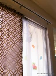 curtains rods curtain for sliding glass doors with vertical blinds patio door grommet top that can hang in front of ds sheer roller shades thermal