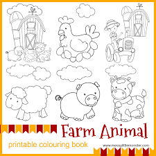 colouring pages for preschoolers printable. Plain For Kids Farm Animal Printable Colouring Pages To Download For Free And Print  Out Intended Colouring Pages For Preschoolers Printable
