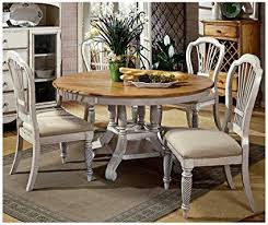 hilale wilshire 5 piece round dining table set in antique white