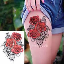 2018 Nové Arrivestattoo Chladné Krásy Sexy Tetování Krajka Růže