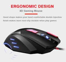 Profesyonel oyun fare süper 8D 6800DPI ve sessiz tıklama kablolu oyun fare  6D 3200DPI ayarlanabilir bilgisayar Dota 2|Mice