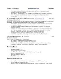 Resume For Librarian