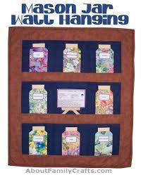 wall hangings   Hidden Treasure Crafts and Quilting & Mason Jar Wall Hanging Quilt Adamdwight.com