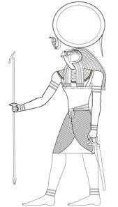 Egyptische God Ra Kleurplaat Egypte Malvorlagen ägypten En