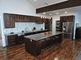 dark wood cabinets. Perfect Cabinets Contemporary Kitchen With Dark Wood Cabinets Marble Counter Mazama  Floors And Dining Island On Dark Wood Cabinets K