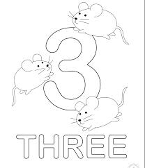 In Inglese Numeri Da Colorare Numero Tre Disegni Da Colorare E