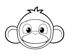 Printable Monkey Free Printable M Is For Monkey Coloring Page Mask