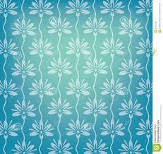 Blauwe Bloemen Op Naadloos Behang Stock Illustratie Illustratie