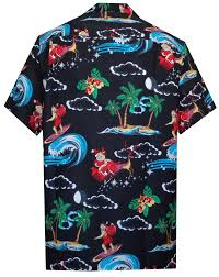 Hawaiian Shirt Mens Christmas Santa Claus Party Aloha Holiday ...