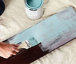 distressed wood furniture diy. Using Your Darkest Shade Of Paint, Apply A First Coat To The Furniture.  Spread Paint Thin Enough Allow Cracks Show Through. Distressed Wood Furniture Diy E