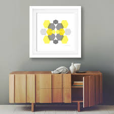 home office wall art. Popular Items For Office Wall Decor On Etsy Minimalist Art Geometric Grey And Mustard Modern Home Yellow Poster Hexagon Artwork