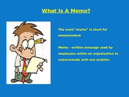 Memorandums And Letters Powerpoint Memos Powerpoint Presentation