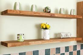 How To Make Solid Wood Floating Shelves Magnificent Solid Wood Floating Shelf Solid Wood Mountain Triangles Long