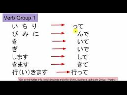 japanese verb te form chart crash course japanese for beginner level te form verb conjugation