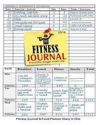 Fitness Journal 2018 Fitness Journal And Food Planner Diary In One 12 Month Fitness Planner Workout Book Food Diary Paperback