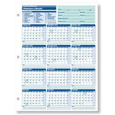 Absentee Calendar Employee Attendance Calendar For The 2018 2019 Academic Year