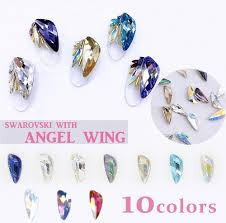 all entering five angel wing type swarovski seven kinds nail nail parts nail article stone feather angel swarovski chandelier design