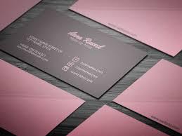 pink makeup artist business card