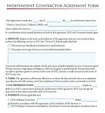Subcontractor Agreement Format Independent Contractor Agreement Form 11 Subcontractor Agreement