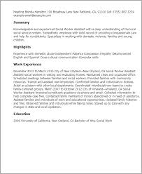 Resume Templates: Social Worker Assistant