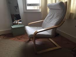 IKEA Poang ARMCHAIR. Birch frame, finnsta white cover