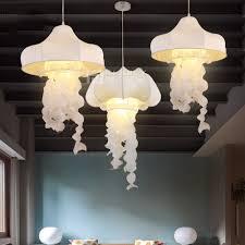 Us 12825 5 Offmoderne Seide Stoff Quallen Loft Korridor Anhänger Lampe Droplight Kronleuchter Decor Shop Cafe Restaurant Schlafzimmer In