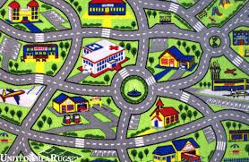 4 3 x 6 6 area rug kids play road map street