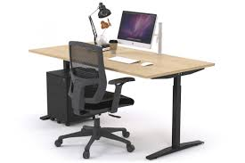 Sit-Stand Range - Stand Up Electric Height Adj Desk Black Frame [1200L x
